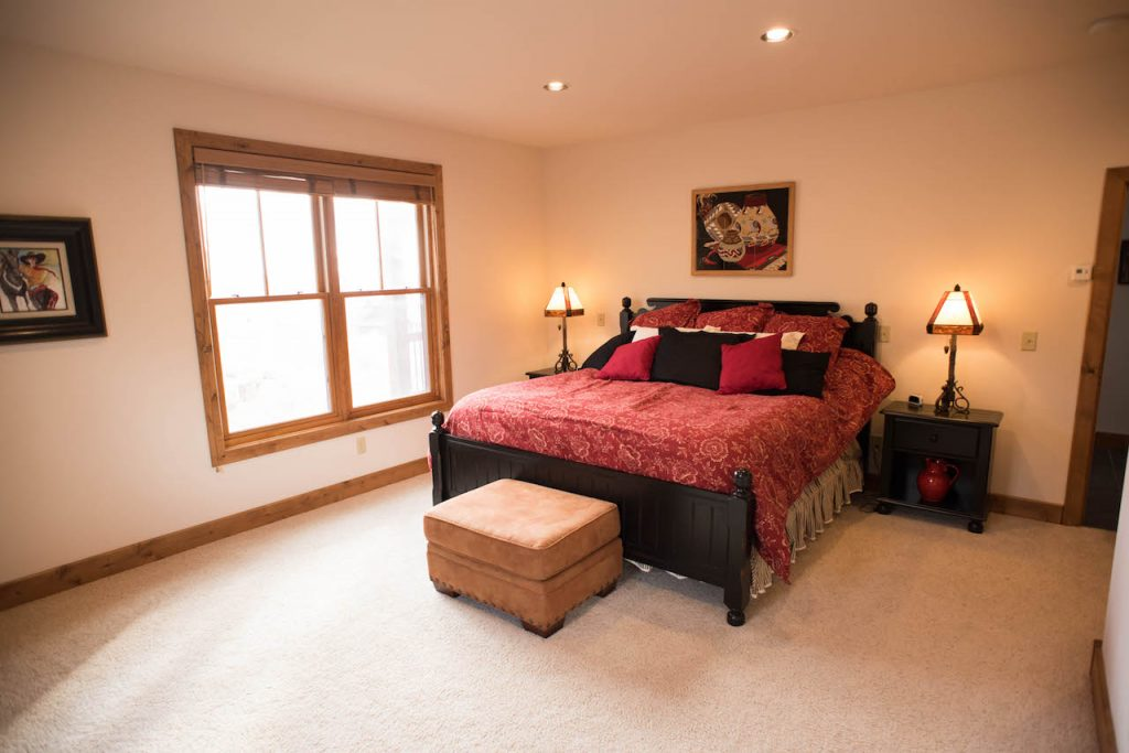 Crested Butte Vacation Rental Master bedroom with King size bed