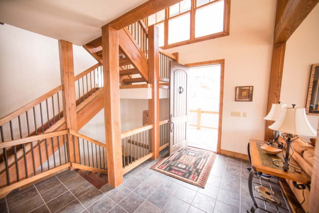 Crested Butte Vacation Rental CB South Entryway with Door open