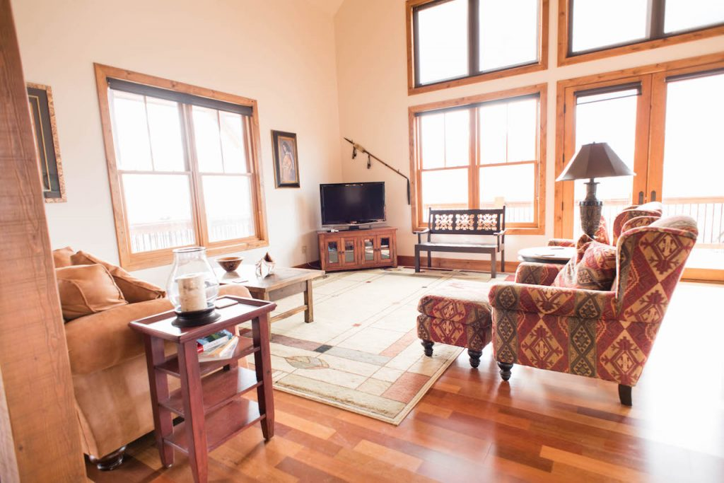 Crested Butte Vacation Rental Living Room with TV