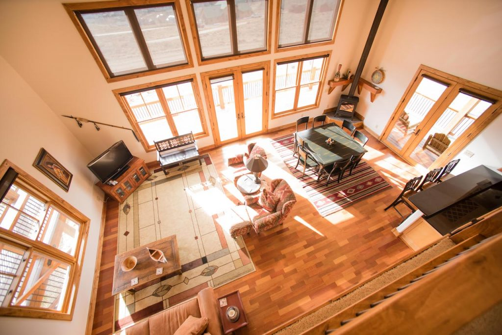 Crested Butte Vacation Rental Birds eye view of the living room