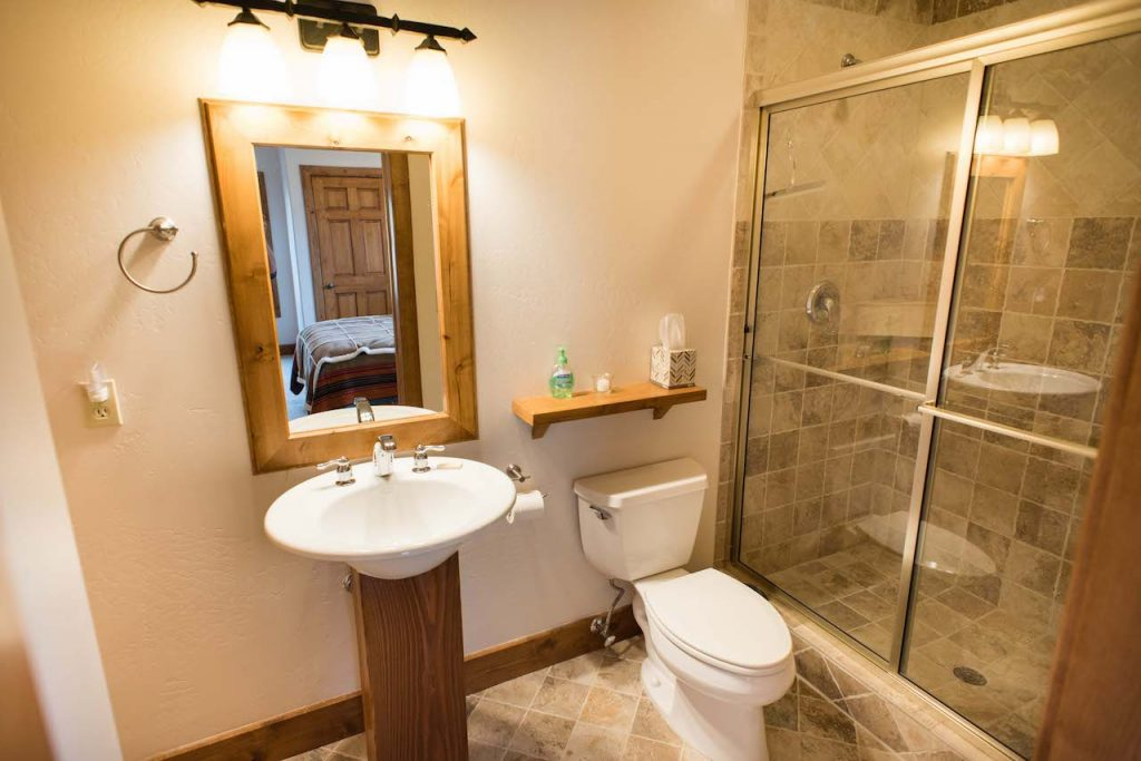 Crested Butte Vacation Rental Bathroom attached to queen bedroom