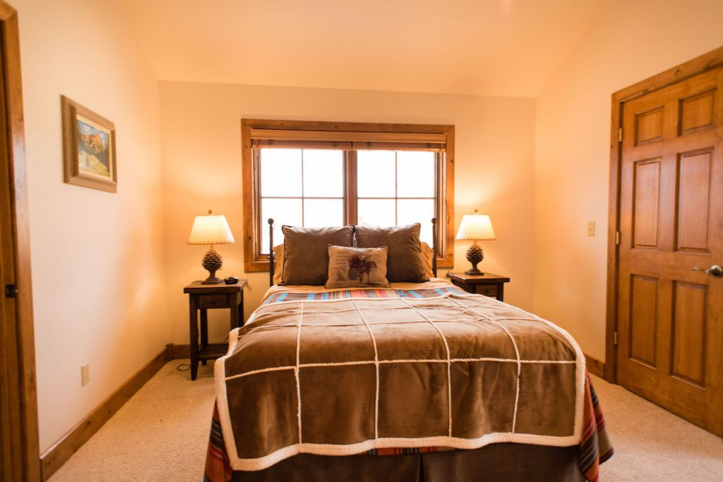 Crested Butte Vacation Rental Upstairs bedroom with queen bed