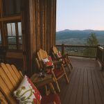 Crested Butte, Co Vacation Rental Relaxing Front Porch at Dusk