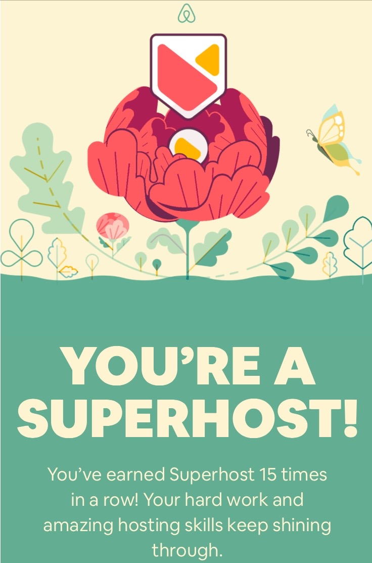 airbnb co-host, super host status badge
