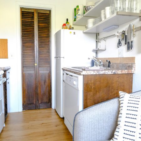 Quaint Winter Park Vacation Rental Kitchen and new wood floors